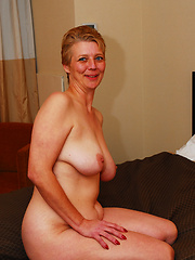 Older blond loves to ride