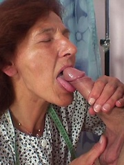 Hot granny slut eats dick meat and gets all the hard fucking she can handle in her gallery