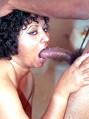 Black mature Swami gets cock