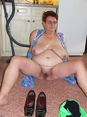This naughty housewife loves to get naked