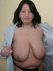 German housewife exposed large boobs