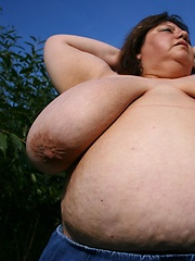 Outdoor session with german BBW and her fat bimbos