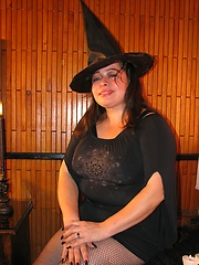 Happy Halloween with Busty Witch