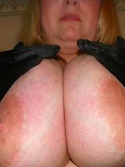 British BBW mama with monstrous tits