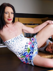 Horny housewife having fun with her younger lover