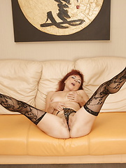Hairy mature lady showing you her stuff