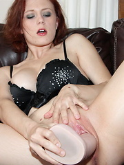 Alysha and Clayra take turns pounding their pussies with some huge toys
