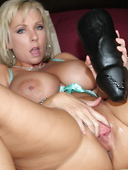 Naughty Alysha does nothing but big black dildos this time