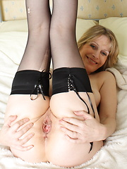 Horny European MILF showing her stuff
