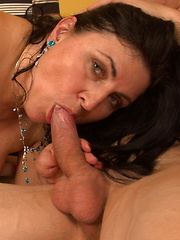 Horny Big Breeasted Slut Sucking and Fucking