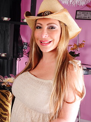 Horny American mom going rodeo style