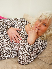 Horny granny doing her toy boy