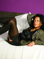 This Dutch housewife gets ready to be naughty