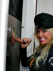 Gorgeous Cop Swallows Cum From Gloryhole