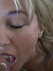 Wifey masturbates with a dildo while covered in cum