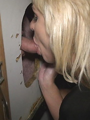Gobbling Cock at the Gloryhole