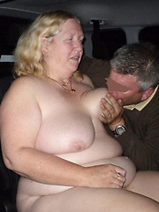 Mature housewives having night sex in their cars