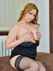 Hot British mom playing with herself